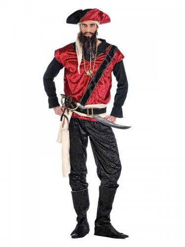 Dark Pirate Costume black-white-red