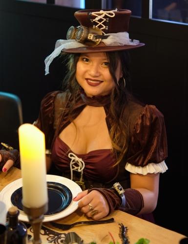 Déguisement steampunk femme bordeaux-1