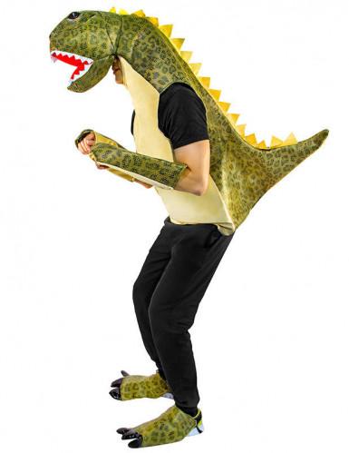 Déguisement dinosaure vert adulte