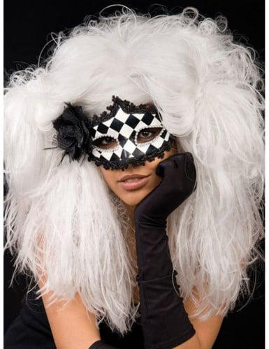 Perruque blanche baroque femme