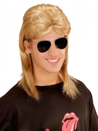 Perruque et lunettes années 80 hommes