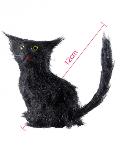 Chat noir 12 cm Halloween-1