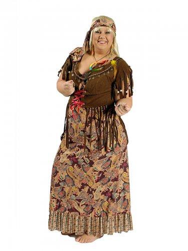 Déguisement hippie années 60 femme grande taille