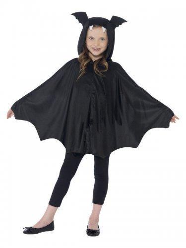 Déguisement poncho chauve-souris noir enfant Halloween-1