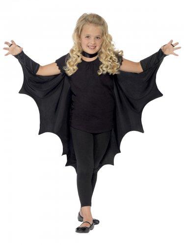 Cape vampire chauve-souris noir enfant Halloween