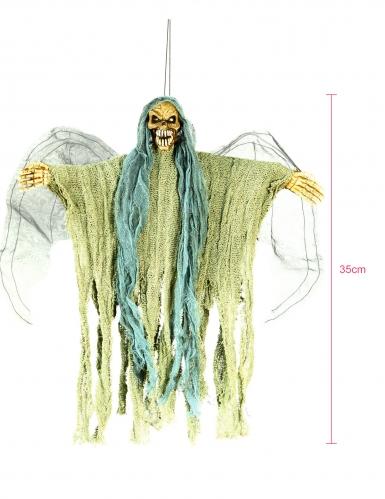 Décoration à suspendre squelette ange de la mort-1