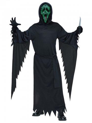Déguisement Scream™ avec lumière vert-noire adulte Halloween