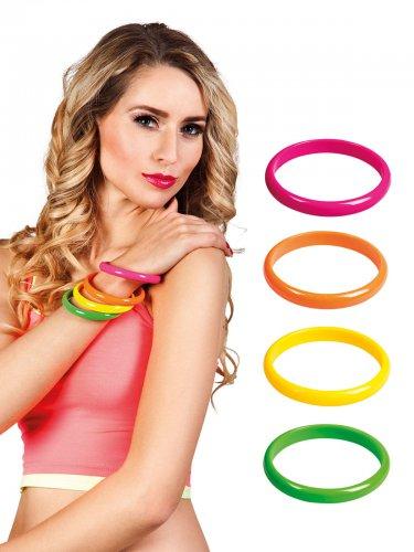 4 bracelets multicolore années 80