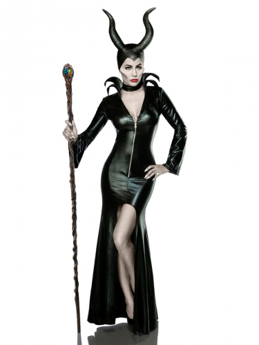 Déguisement sorcière noire sexy femme