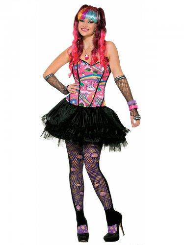 Déguisement pop star multicolore femme
