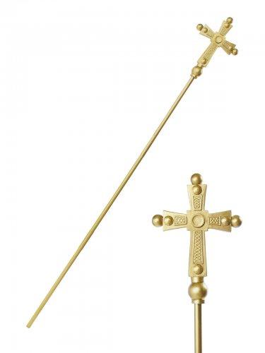 Sceptre pape doré adulte