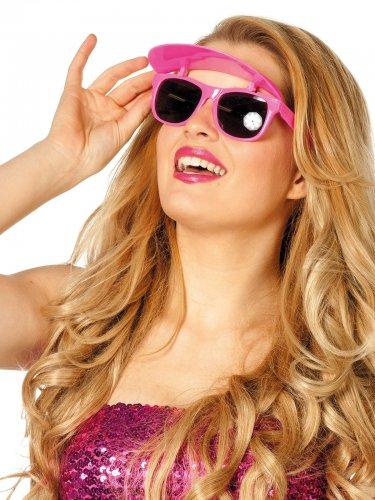 Lunettes roses avec visière pour femme