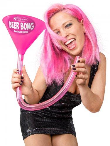Entonnoir à bière rose 70 cm Headrush Beer bong®