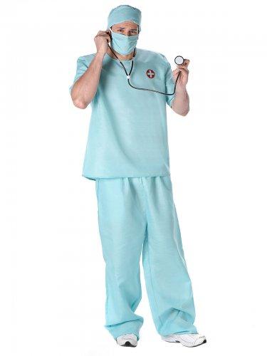 Déguisement docteur chirurgien homme bleu