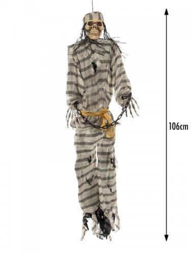 Squelette prisonnier suspendu 106 cm-1