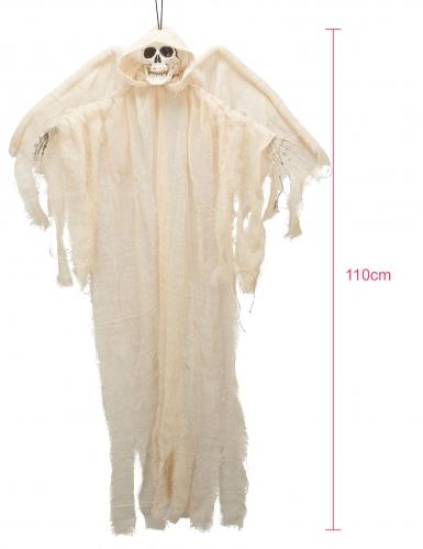 Décoration ange blanc squelette à suspendre 110cm-1