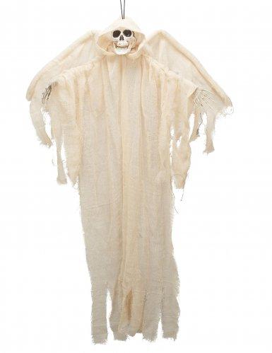 Décoration ange blanc squelette à suspendre 110cm