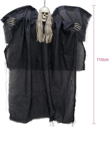 Décoration à suspendre ange noir de la mort lumineux 110 cm-1