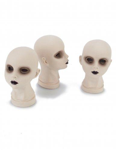 Décorations têtes de poupées cadavériques