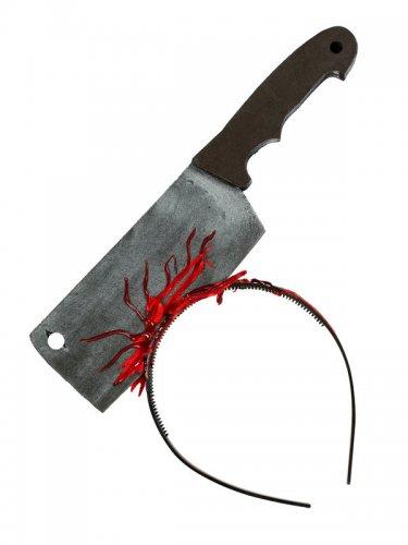 Serre-tête hache ensanglantée 28 cm-1