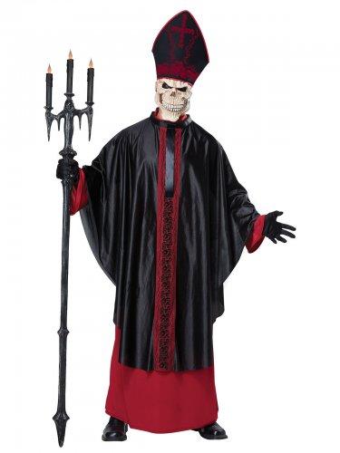Déguisement pape lugubre squelette adulte