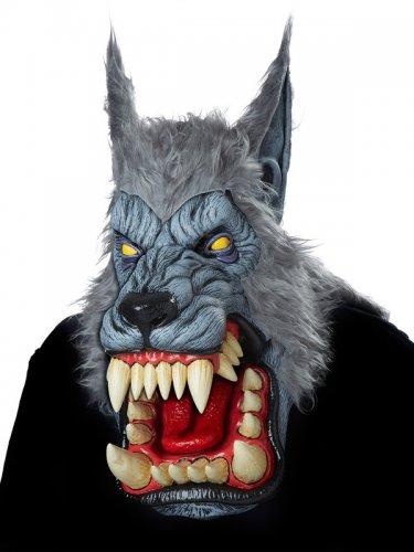 Masque loup garou adulte gris-1
