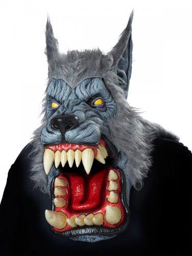 Masque loup garou adulte gris-2