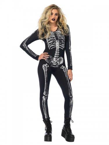 Déguisement sexy squelette Halloween femme-2