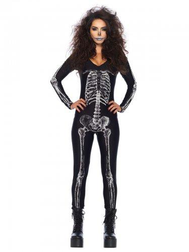 Déguisement sexy squelette Halloween femme