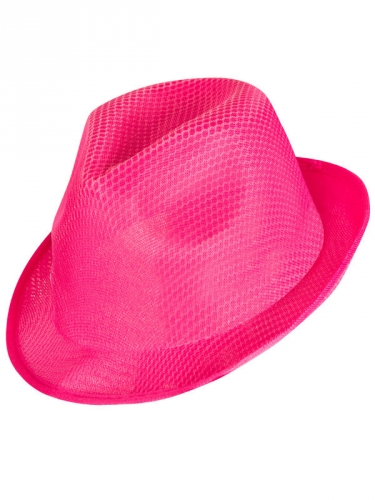 Chapeau enterrement de vie de jeune fille rose et blanc-1