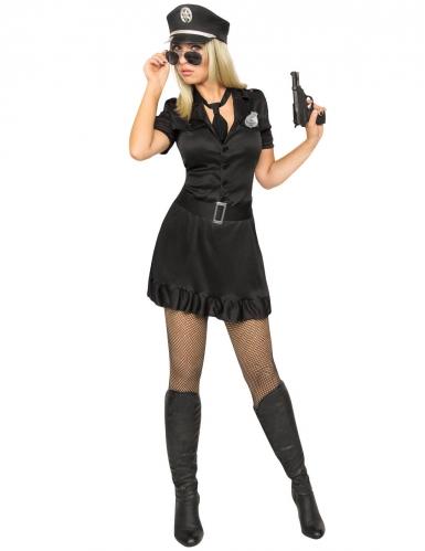 Déguisement policière sexy robe noire femme