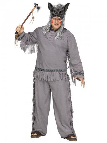 Déguisement chasseur de loup indien gris grande taille