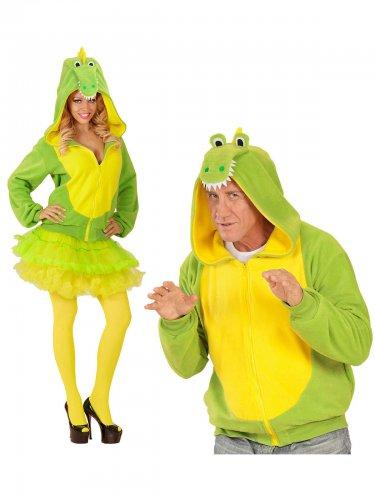 Déguisement humoristique de crocodile adulte