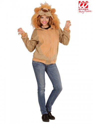 Veste à capuche lion adulte-1
