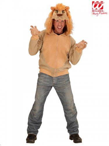 Veste à capuche lion adulte-2