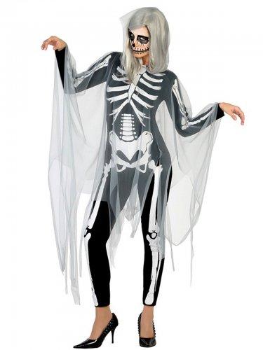 Déguisement squelette Halloween femme sexy noir blanc