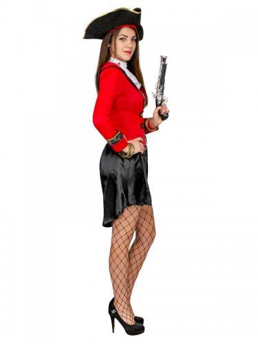 Déguisement pirate femme noir et rouge-1