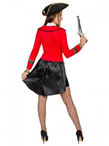 Déguisement pirate femme noir et rouge-2