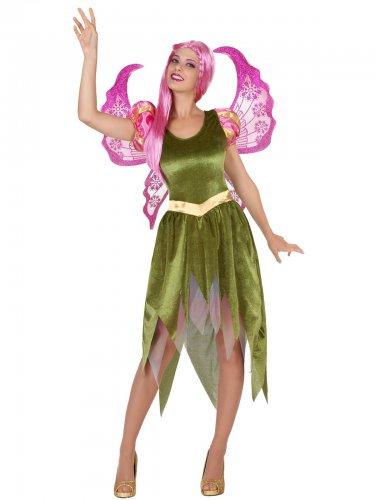 Déguisement elfe vert femme