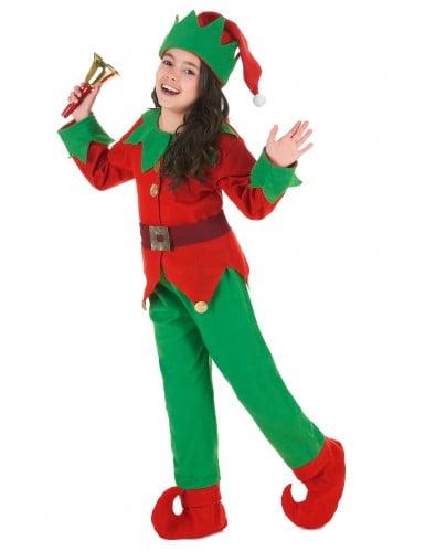 Déguisement Complet Elfe de Noël Enfant-1