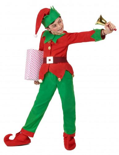 Déguisement complet elfe de Noël enfant-2