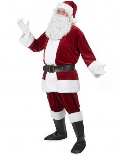 Déguisement de Père Noël Super Luxe adulte-1