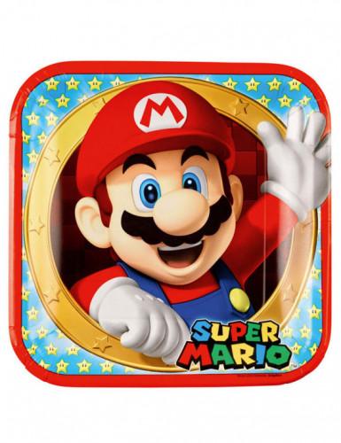 8 Assiettes en carton Super Mario™ 23 cm