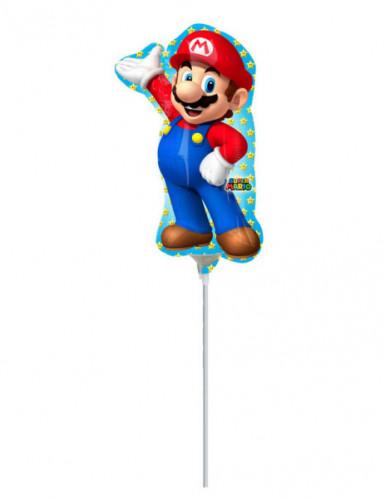 Ballon aluminium gonflé Super Mario™ 20 x 30 cm-1