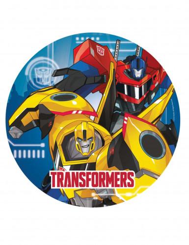 8 assiettes en carton 23 cm Transformers Robots in Disguise ™