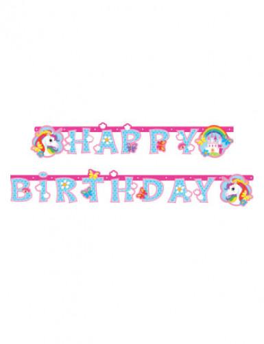 Guirlande Happy Birthday Licorne 1.79 m
