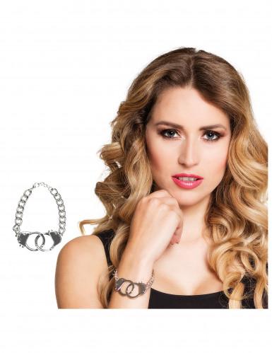 Bracelet métal menottes femme