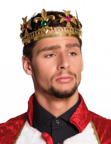 Couronne roi avec faux joyaux adulte