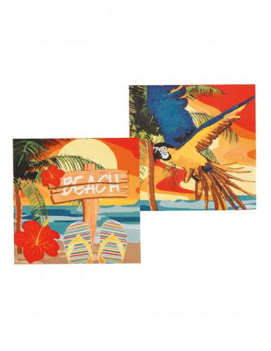 12 Serviettes en papier Beach party 33 X 33 cm-1