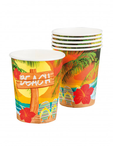 6 Gobelets Beach party 25 cl
